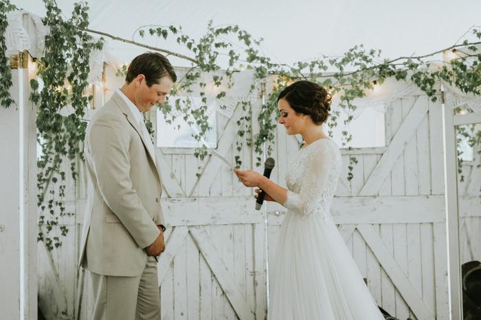 tent wedding ceremony