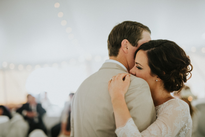 intimate first dance in calgary backyard wedding