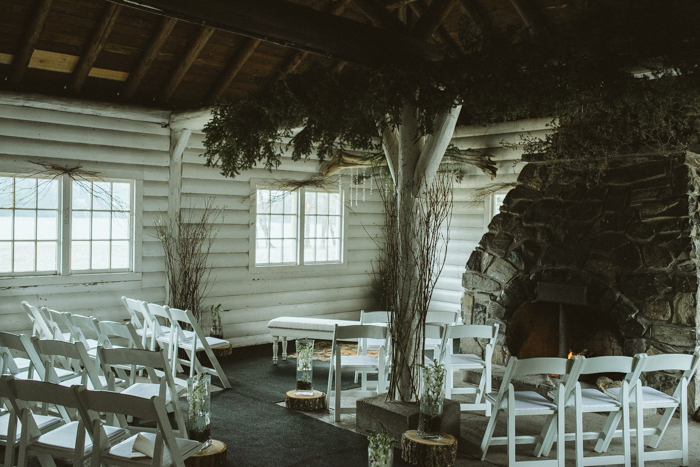 Decorated Camp Kitchen for Elopement Wedding