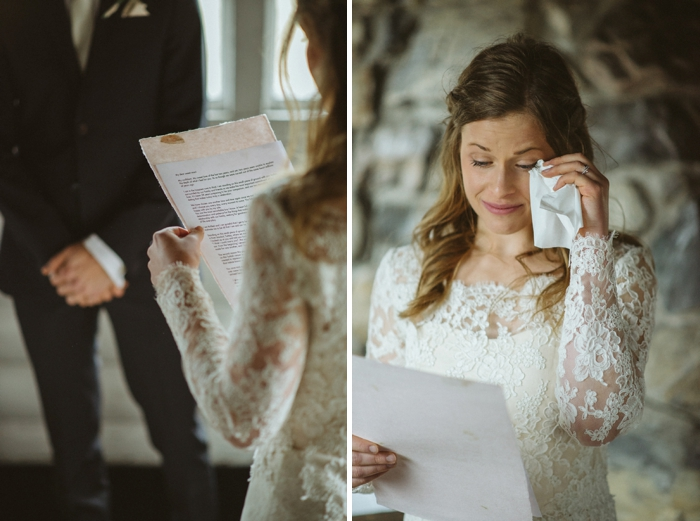waterton bride reading vowes