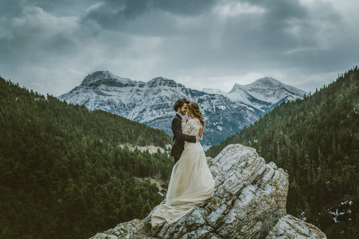 Elopement Waterton Wedding. Mountain Top Elopement Waterton
