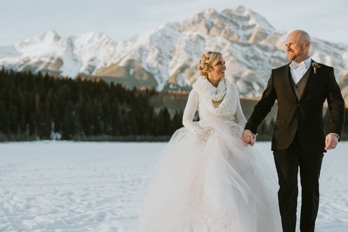 Fairmont Jasper Winter Wedding. Winter wedding in a Cabin.