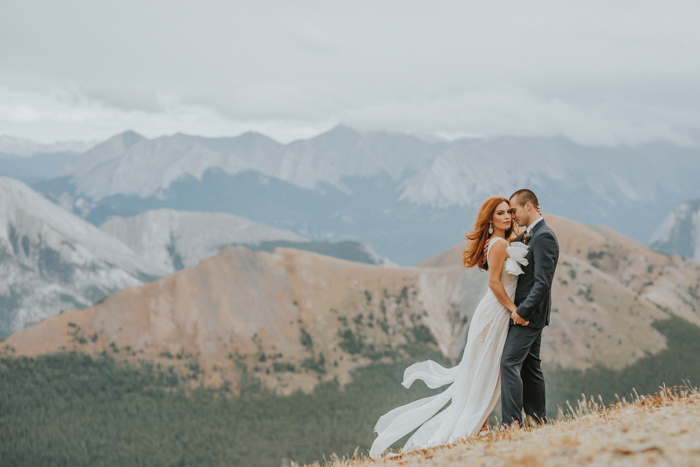 Helicopter Elopement Wedding Banff. Banff Wedding Photographers. Darren Roberts