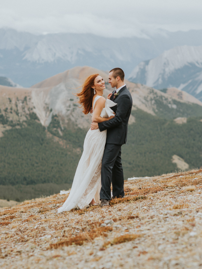 Helicopter Elopement Wedding Banff. Destination Wedding photographers