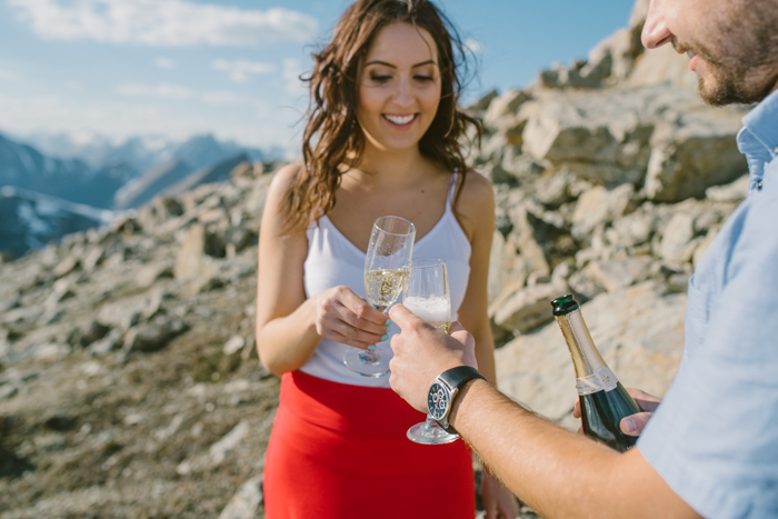 Champagne on a mountain top