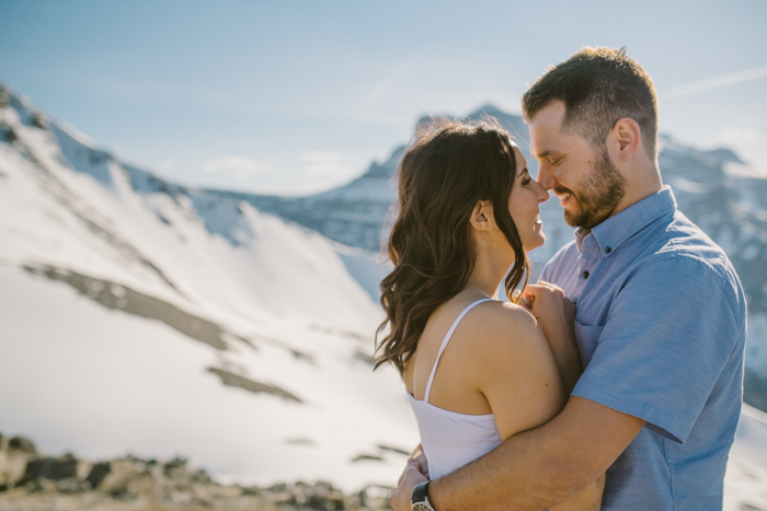 Mountain Top engagement session banff