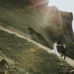 Iceland wedding at black sand beach