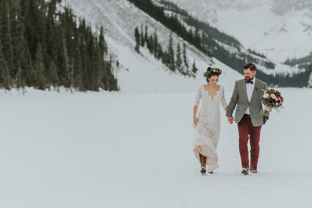 Winter wedding lake louise
