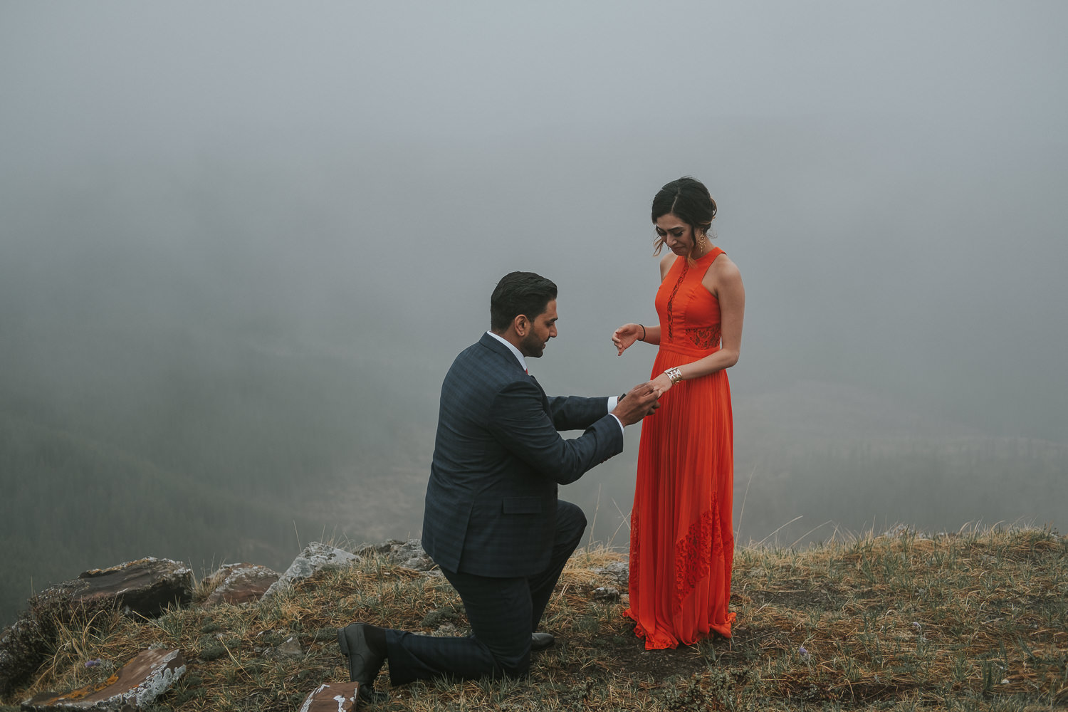 Banff Wedding Photographers Helicopter Engagement Session-10