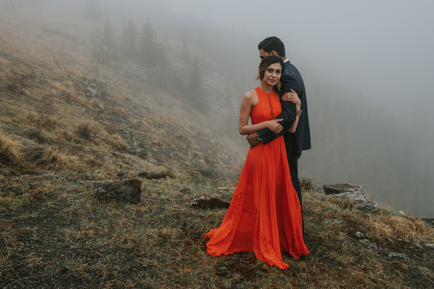 Banff Wedding Photographers Helicopter Engagement Session-16