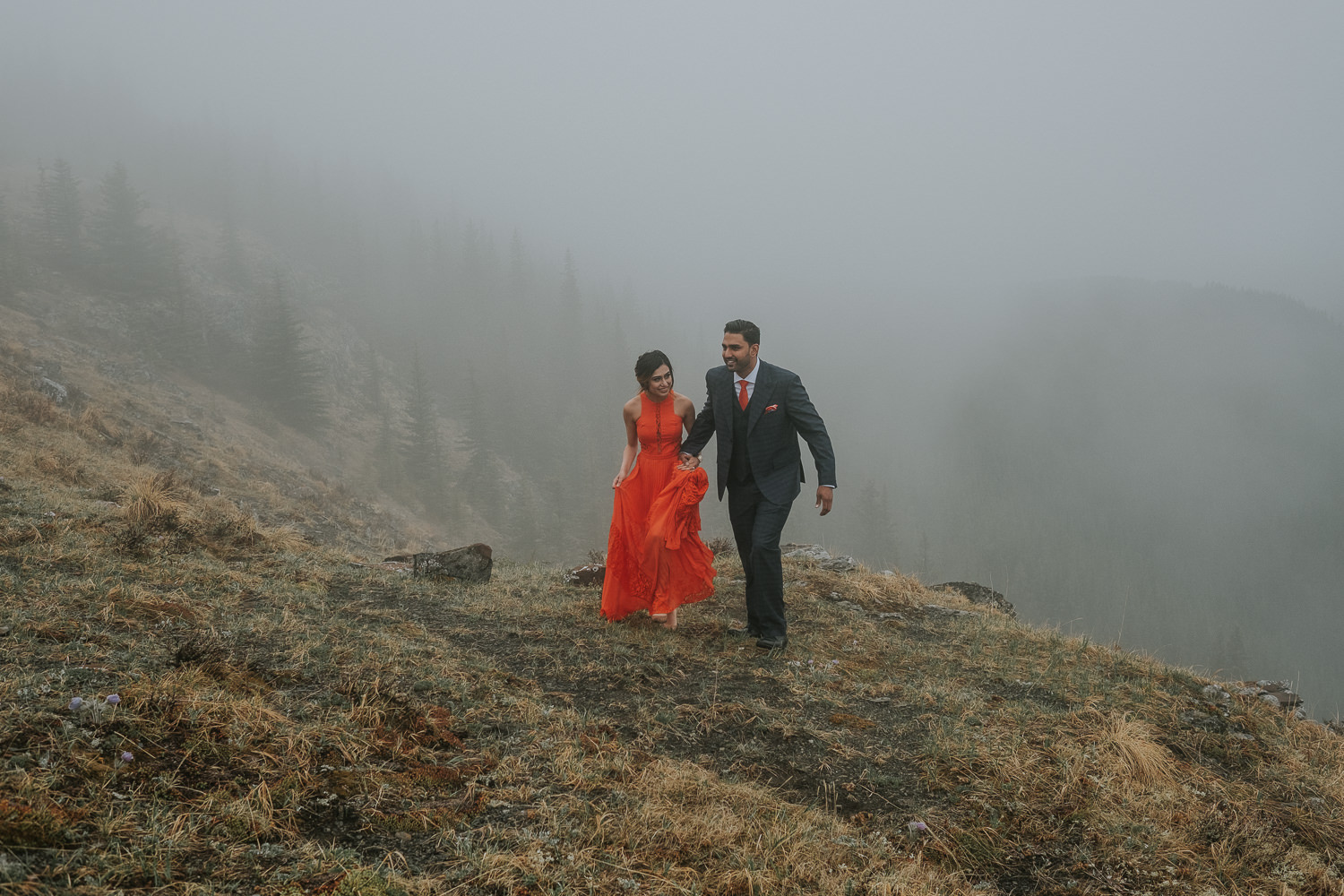 Banff Wedding Photographers Helicopter Engagement Session-18