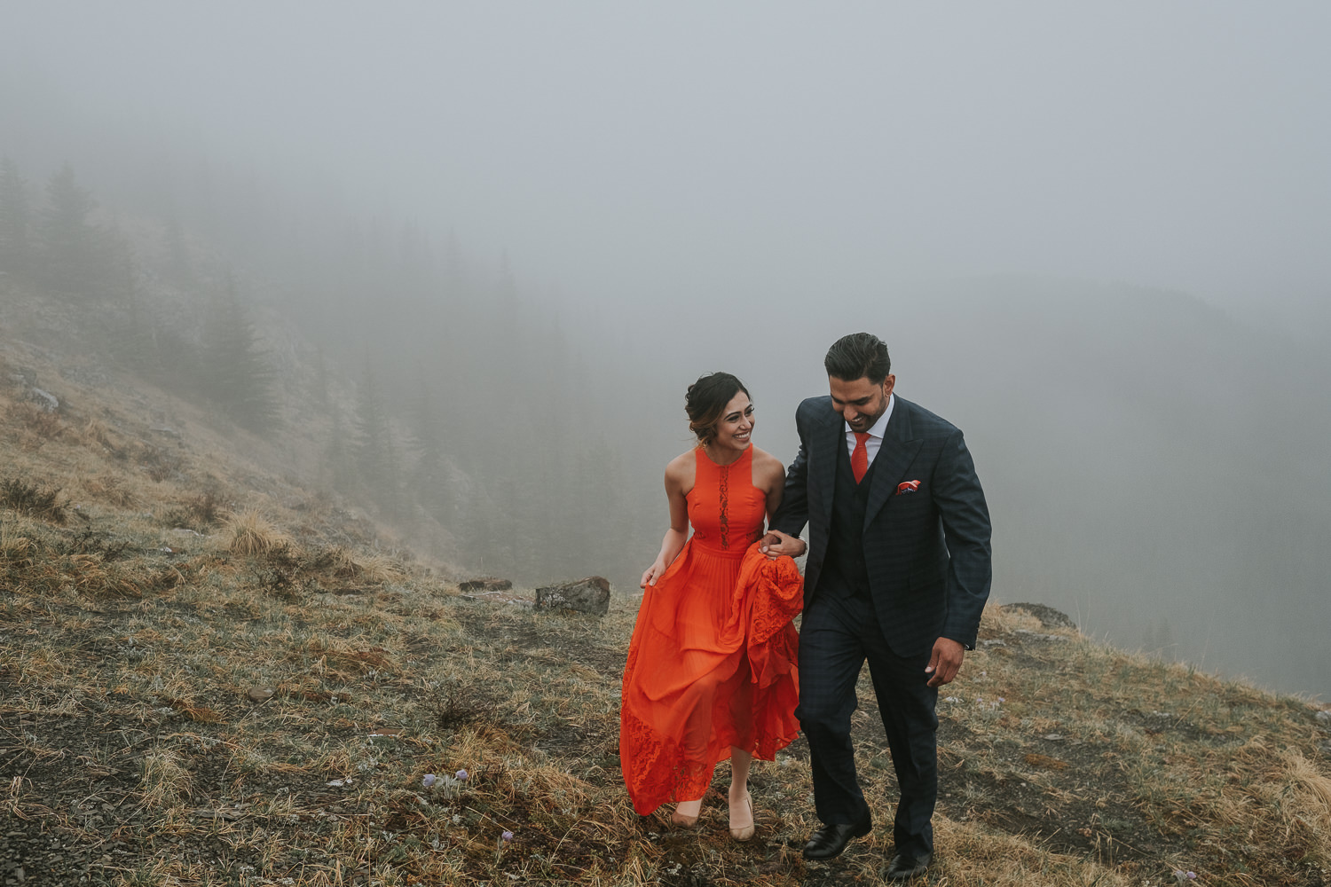 Banff Wedding Photographers Helicopter Engagement Session-19