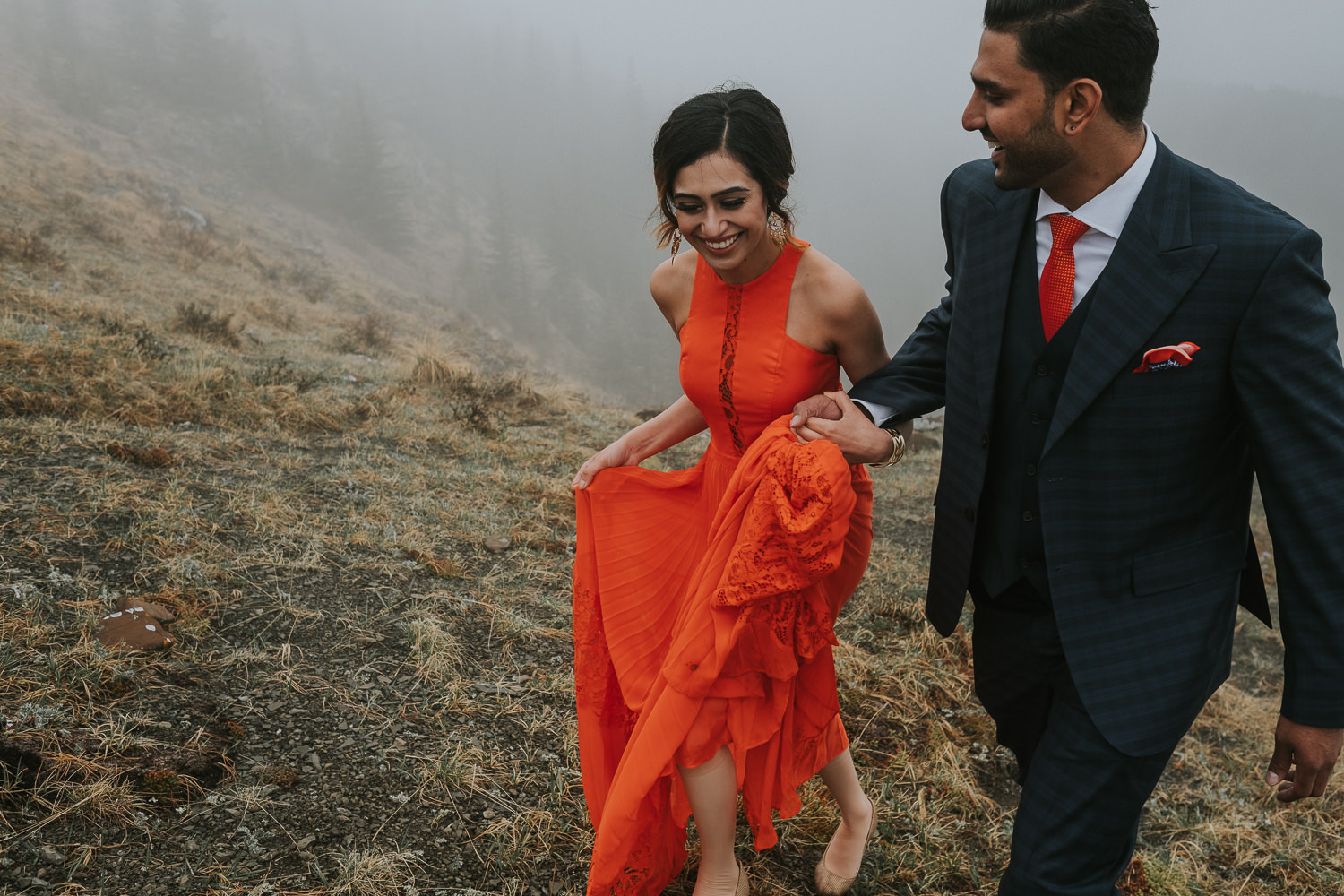 Banff Wedding Photographers Helicopter Engagement Session-20
