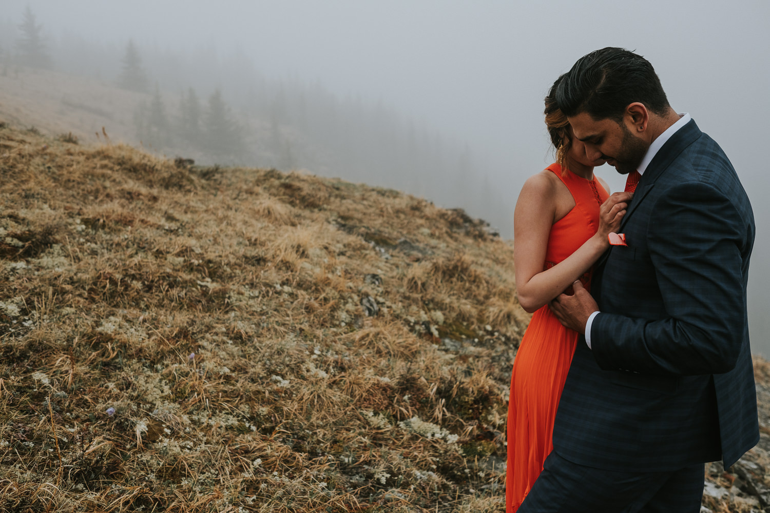 Banff Wedding Photographers Helicopter Engagement Session-25