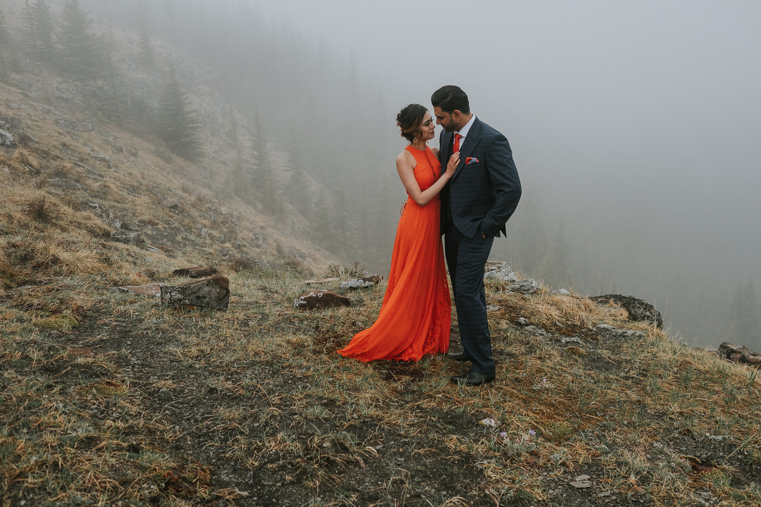 Banff Wedding Photographers Helicopter Engagement Session-26