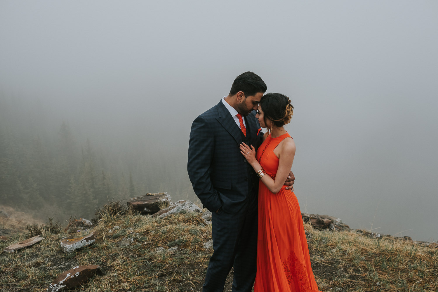 Banff Wedding Photographers Helicopter Engagement Session-28