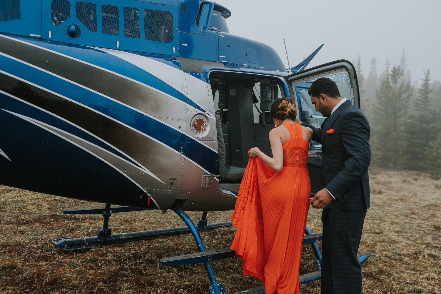 Banff Wedding Photographers Helicopter Engagement Session-34