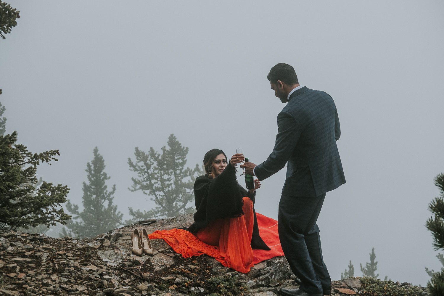 Banff Wedding Photographers Helicopter Engagement Session-49