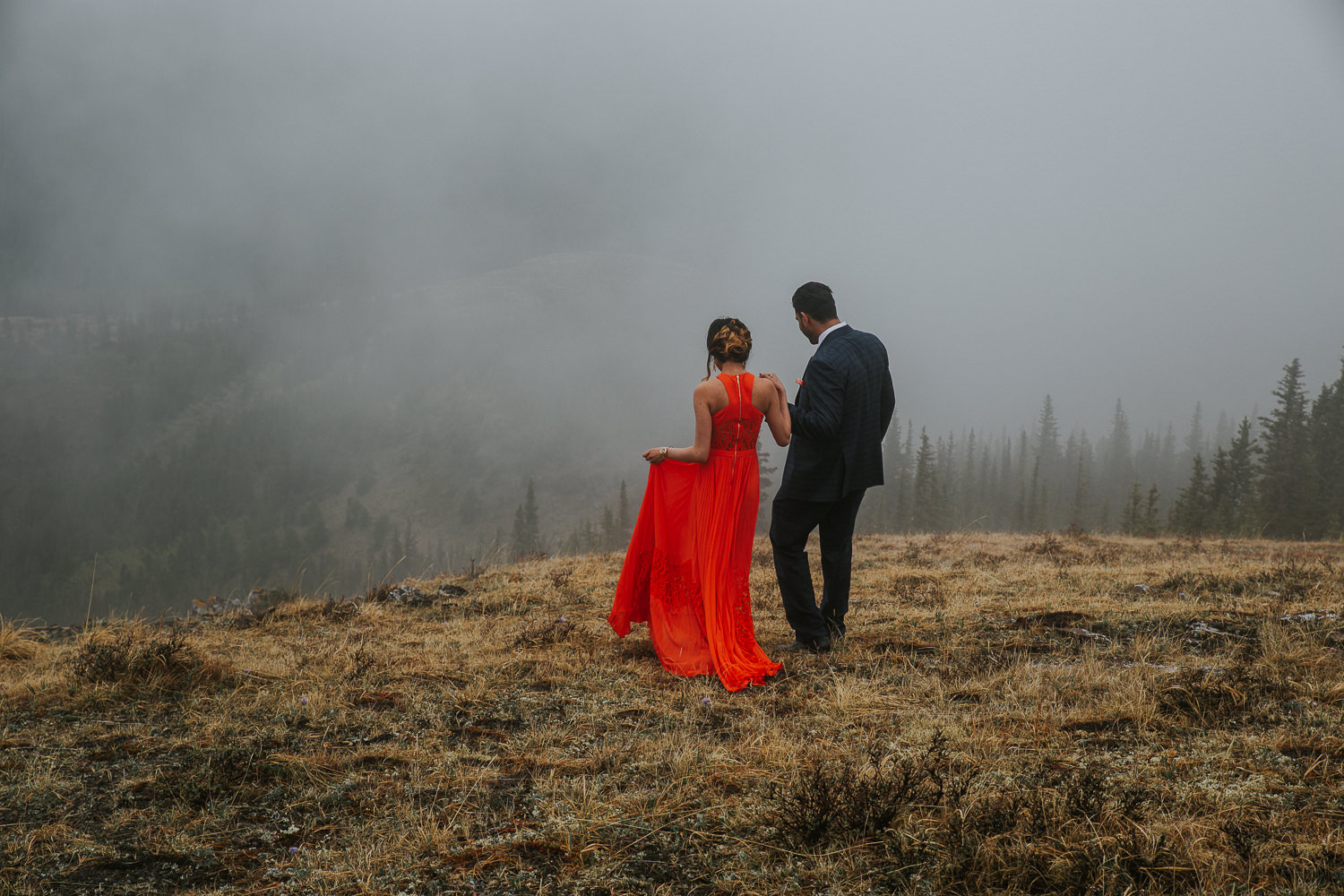 Banff Wedding Photographers Helicopter Engagement Session-5