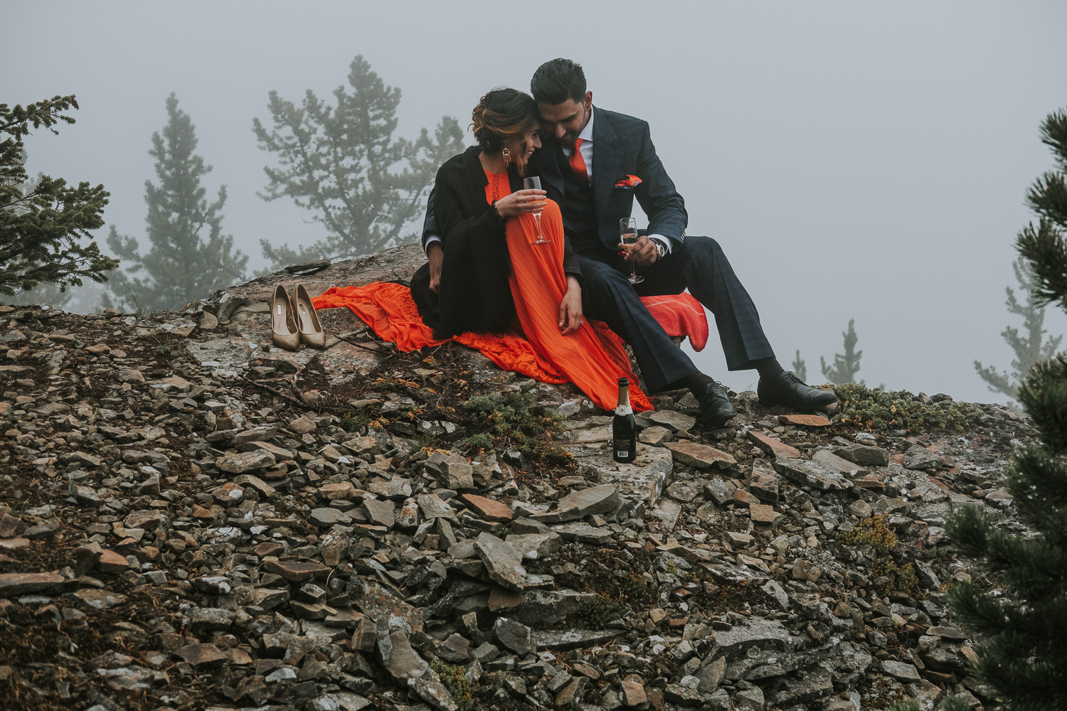 Banff Wedding Photographers Helicopter Engagement Session-51