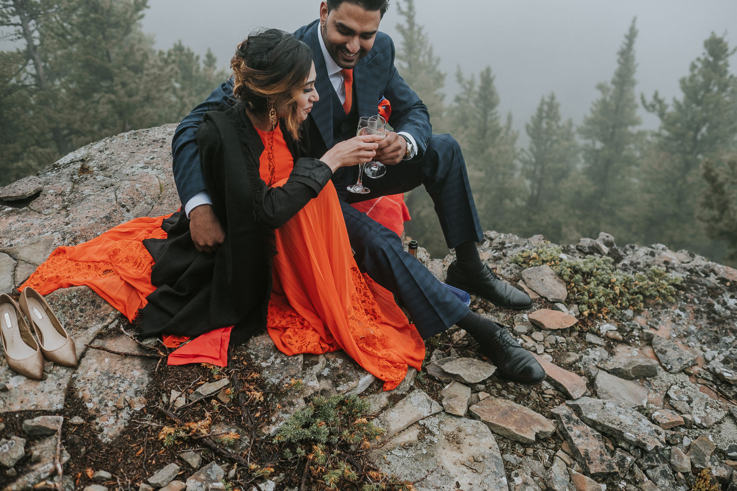 Banff Wedding Photographers Helicopter Engagement Session-52