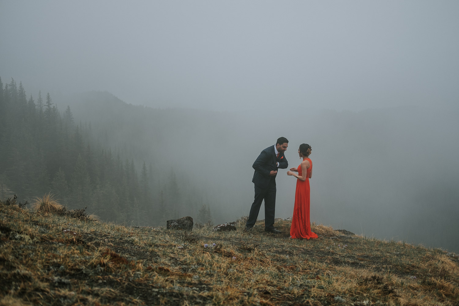 Banff Wedding Photographers Helicopter Engagement Session-7