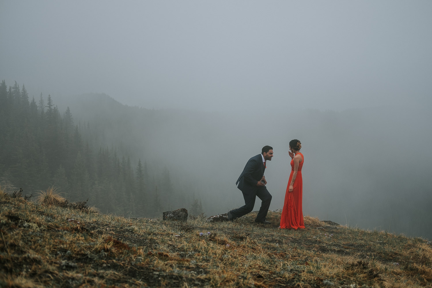 Banff Wedding Photographers Helicopter Engagement Session-8