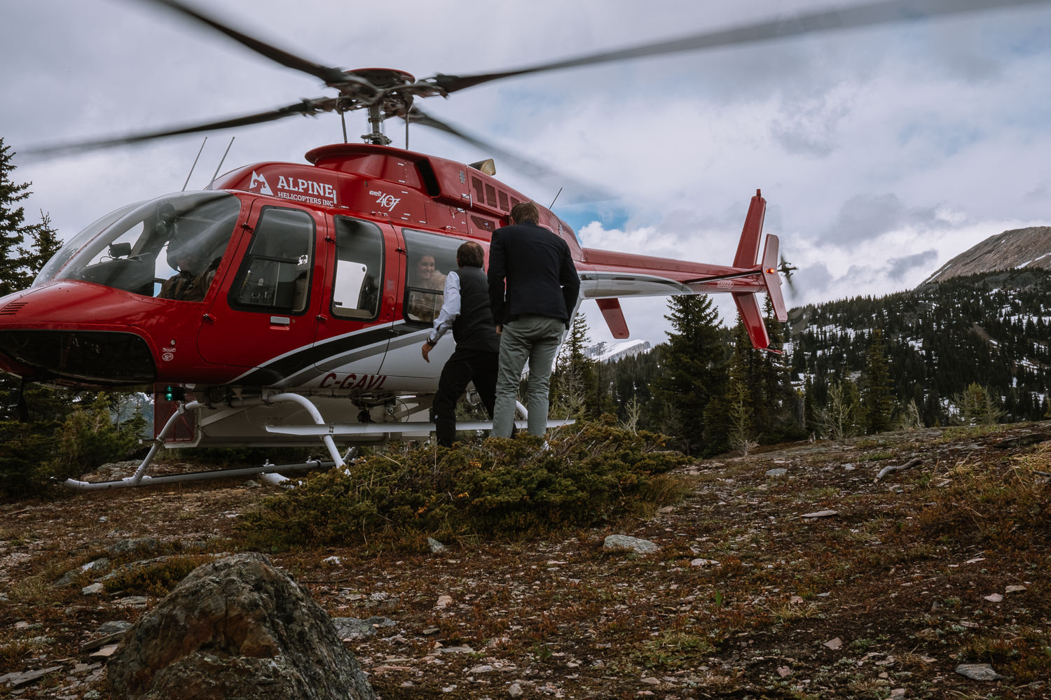 Banff Wedding Photographer Helicopter Wedding Marvel Pass-10005