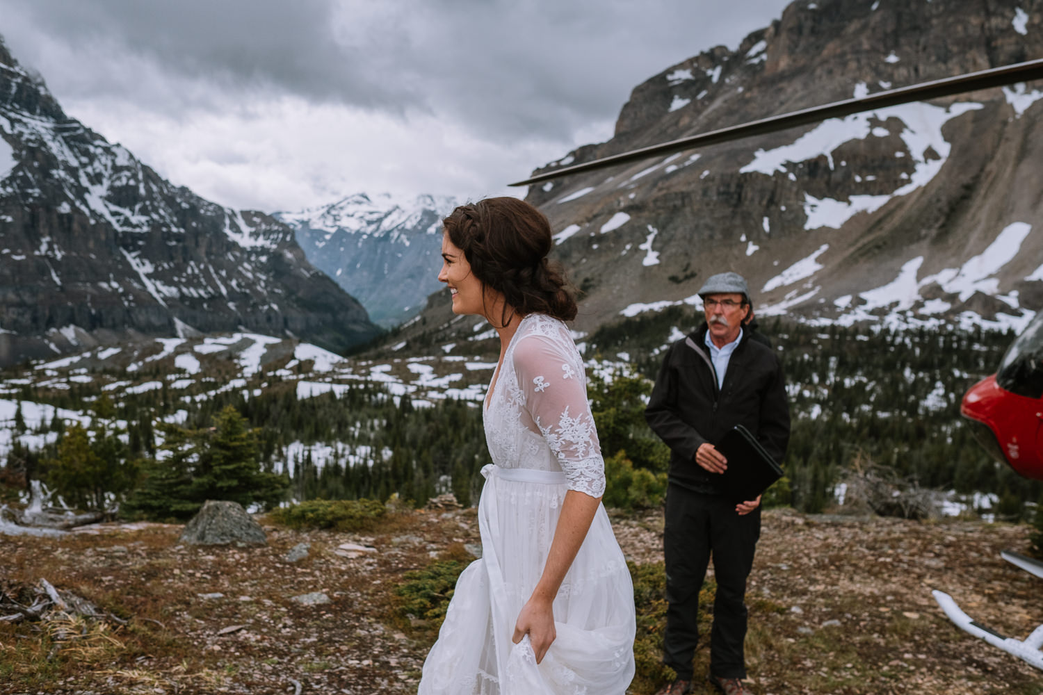 Banff Wedding Photographer Helicopter Wedding Marvel Pass-10010