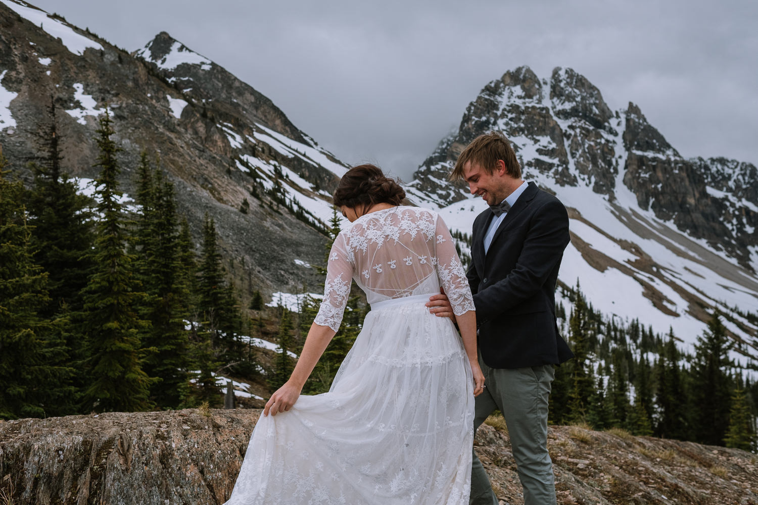Banff Wedding Photographer Helicopter Wedding Marvel Pass-10014