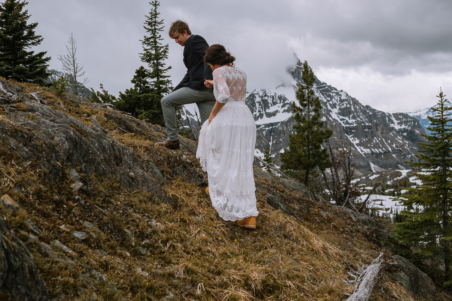 Banff Wedding Photographer Helicopter Wedding Marvel Pass-10046