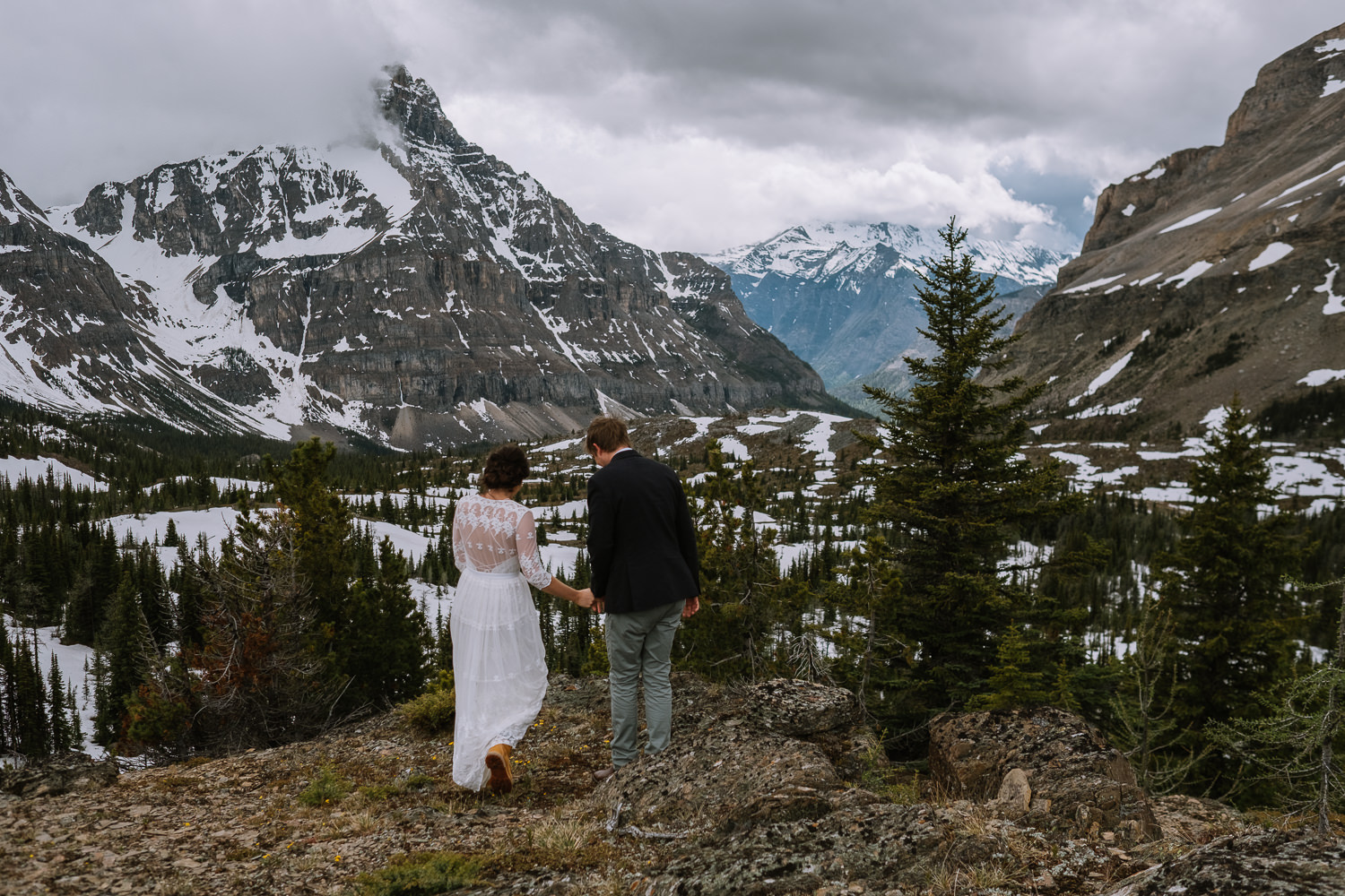 Banff Wedding Photographer Helicopter Wedding Marvel Pass-10049