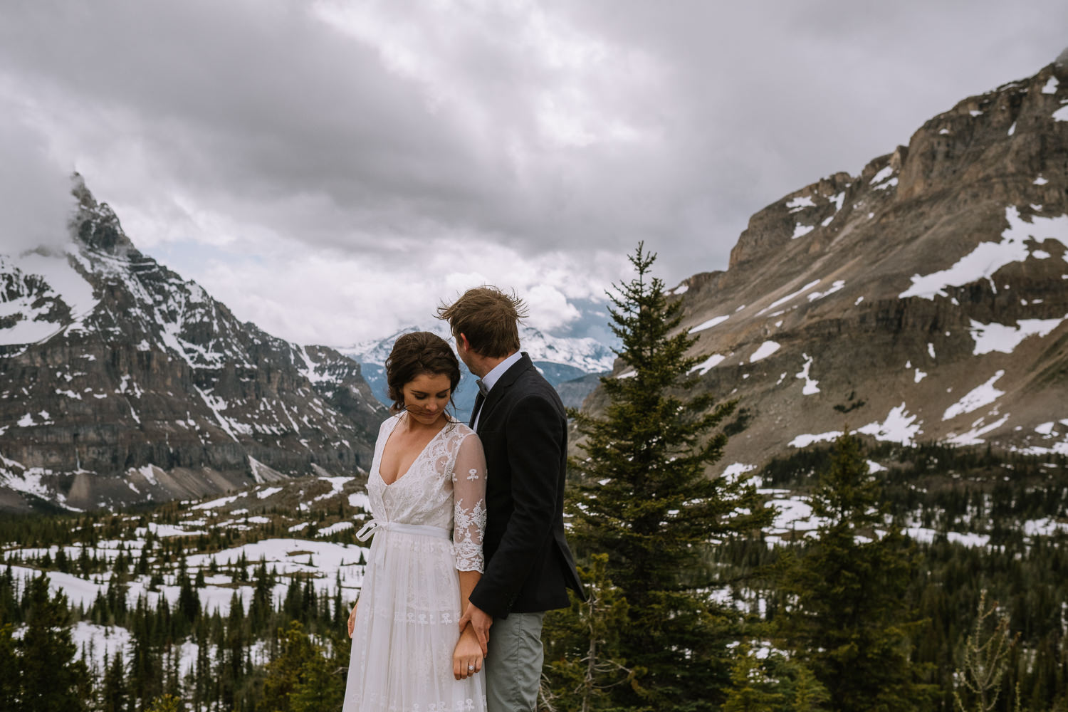 Banff Wedding Photographer Helicopter Wedding Marvel Pass-10055