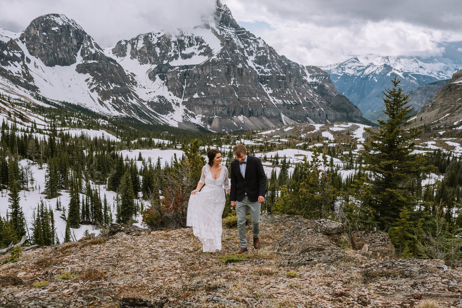 Banff Wedding Photographer Helicopter Wedding Marvel Pass-10065