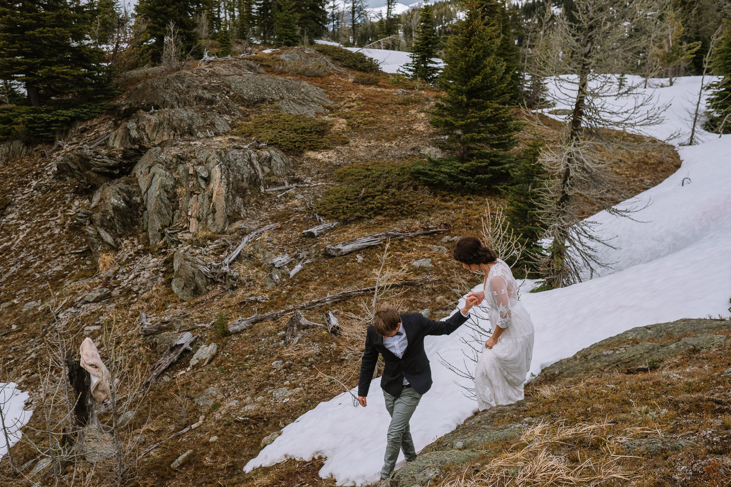 Banff Wedding Photographer Helicopter Wedding Marvel Pass-10079