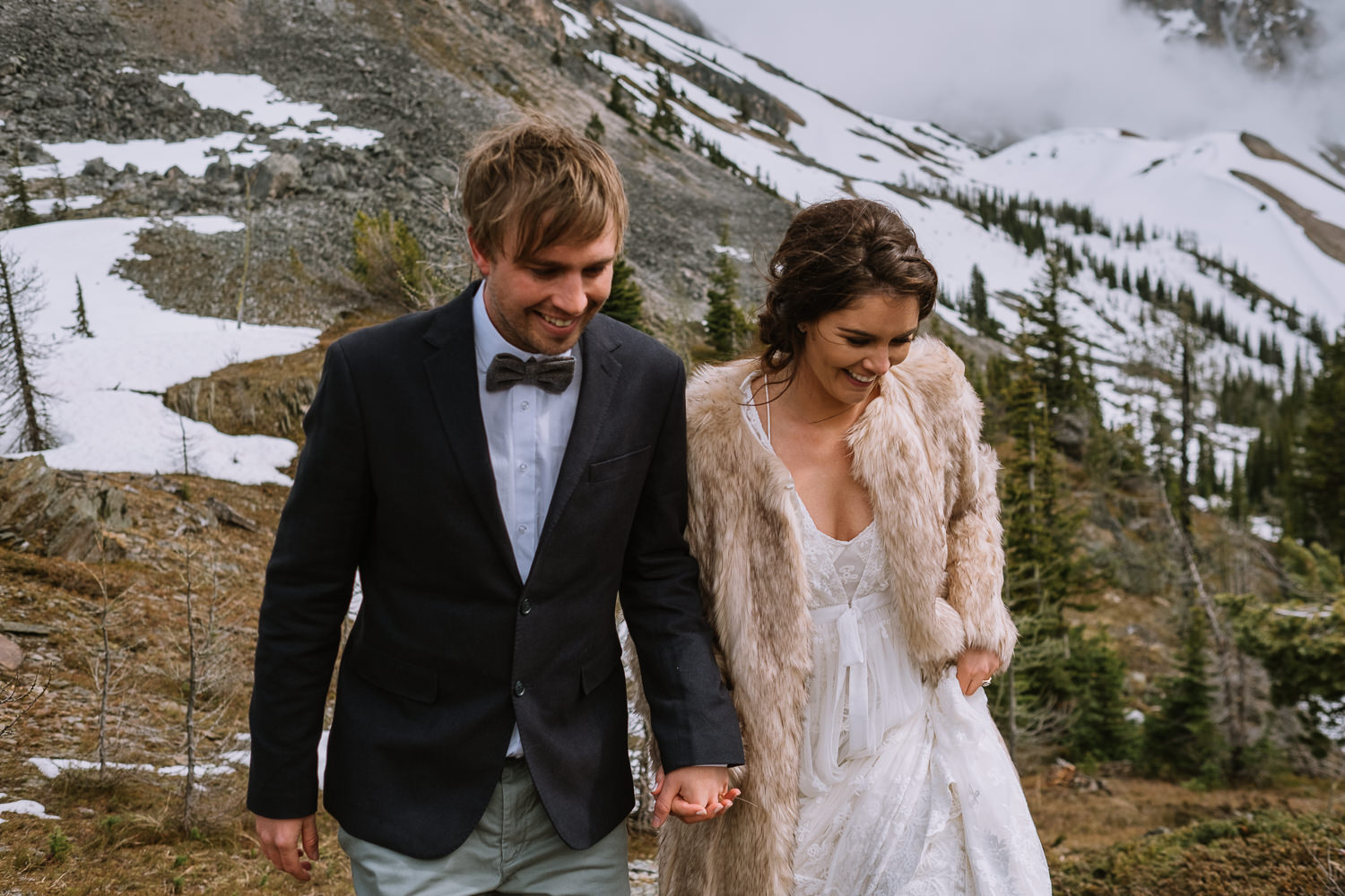Banff Wedding Photographer Helicopter Wedding Marvel Pass-10083