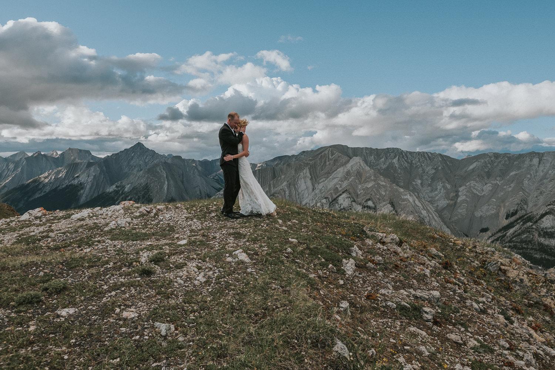 Wedding Photos on top of mountain