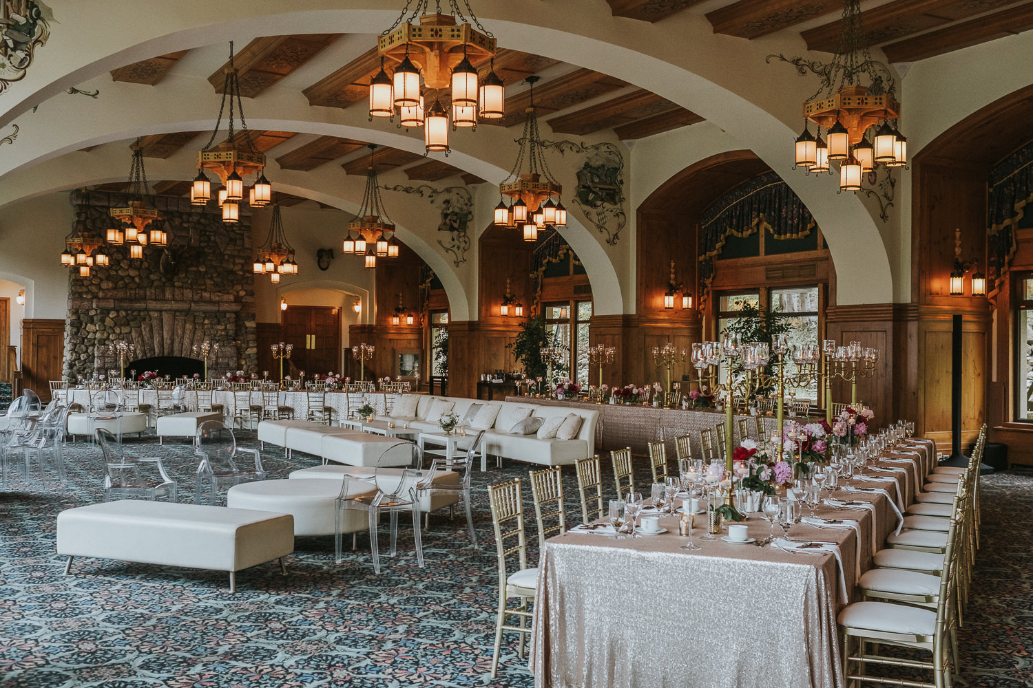 Chateau Lake Louise Victoria Ball Room Wedding