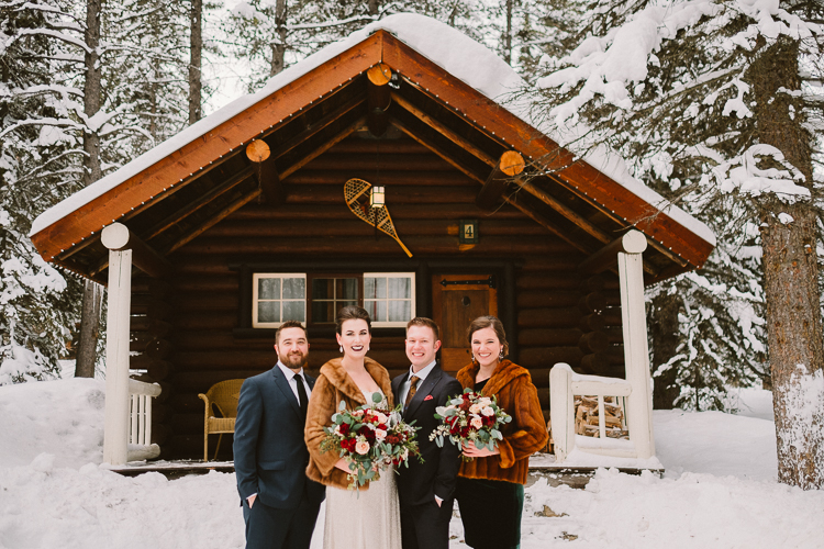 Banff Winter Wedding Storm Mountain Lodge-10047