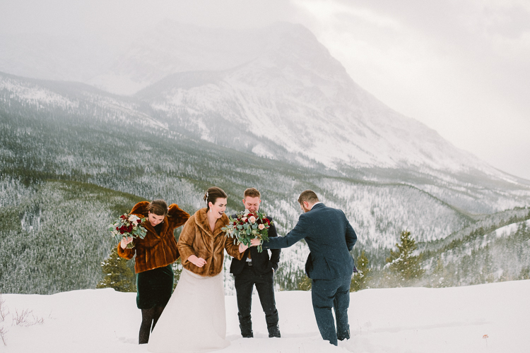 Banff Winter Wedding Storm Mountain Lodge-10051