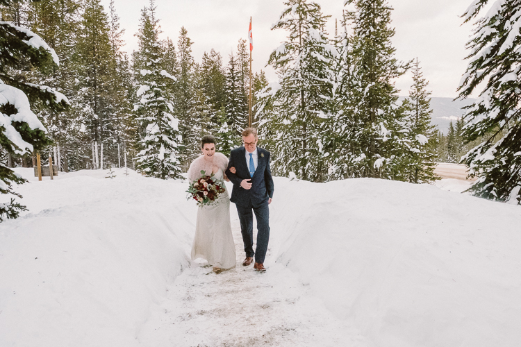 Banff Winter Wedding Storm Mountain Lodge-10089