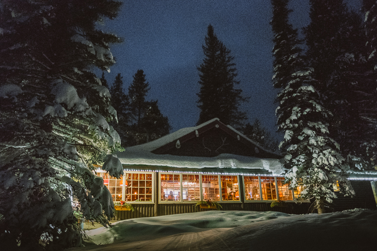 Storm Mountain Lodge at Night-10001