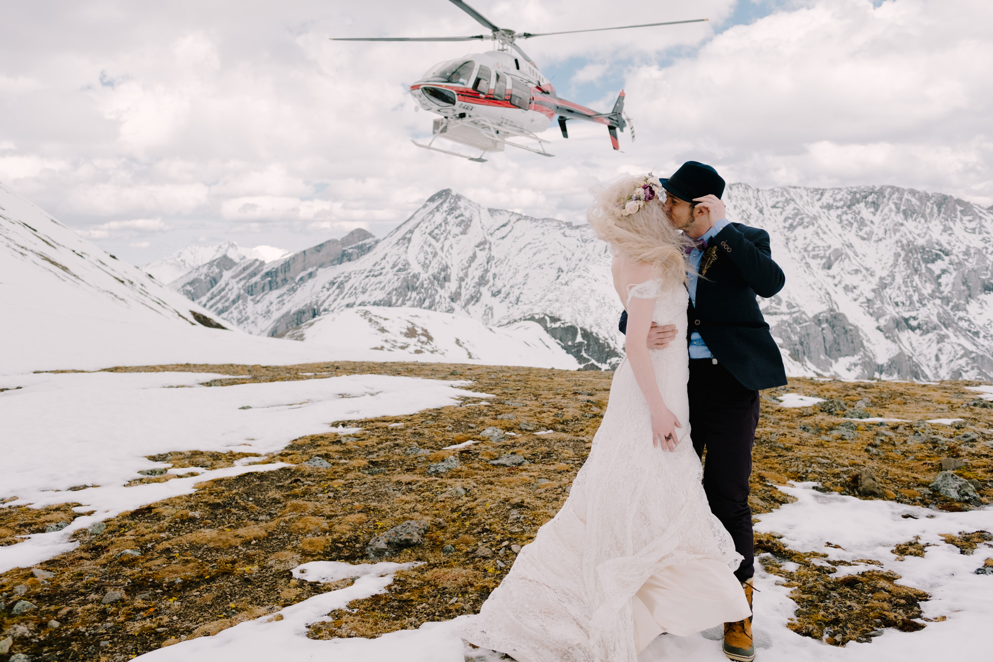 Canmore Wedding Helicopter-10050