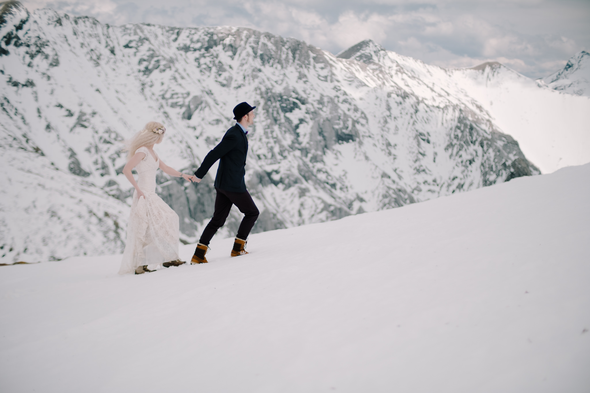 Canmore Wedding on Mountain