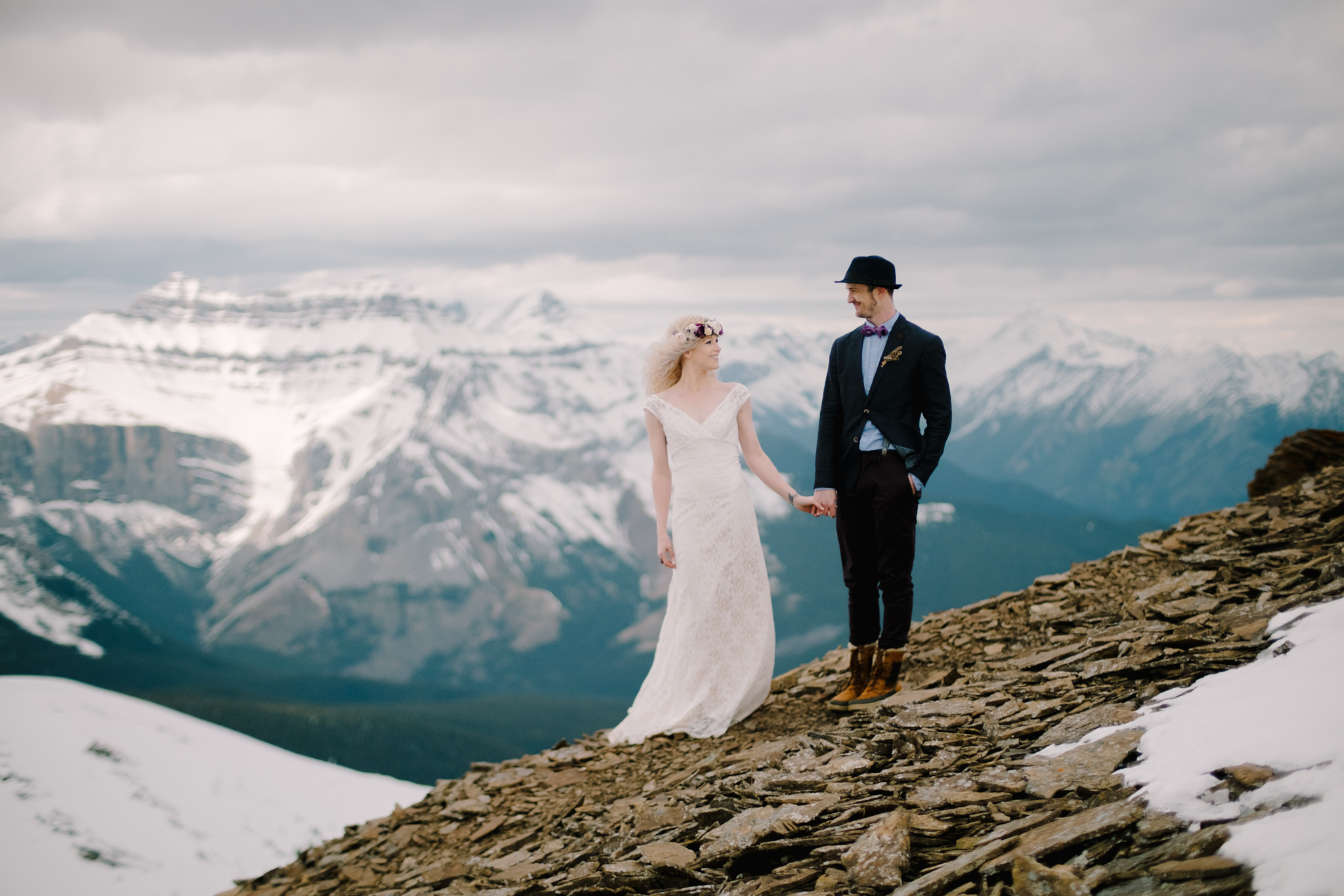Helicopter Wedding In Banff