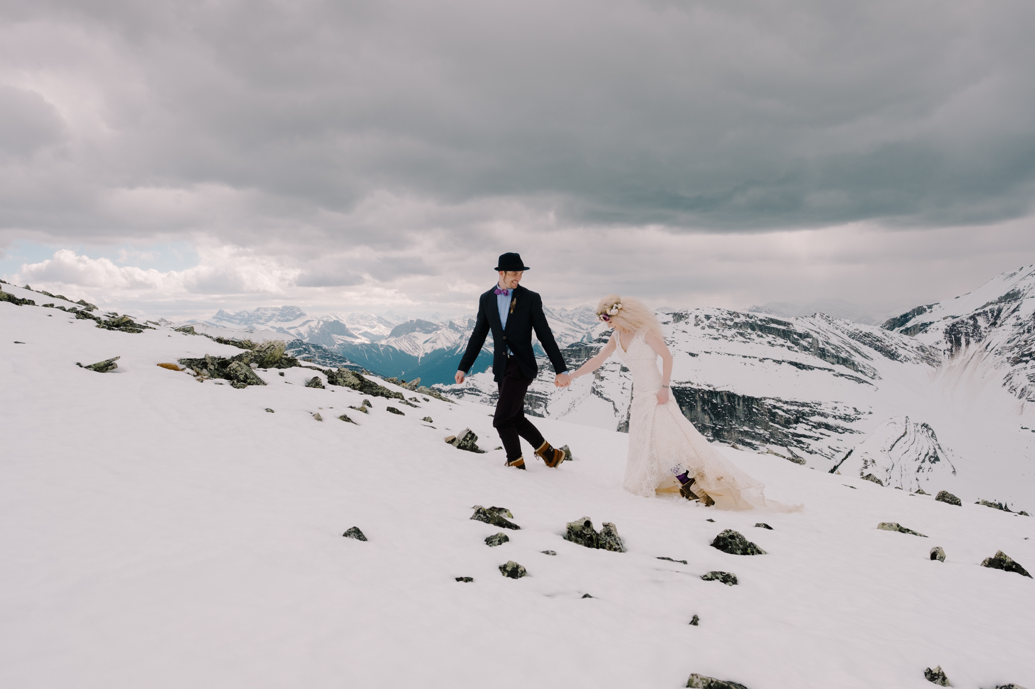 Canmore Wedding Helicopter-10071