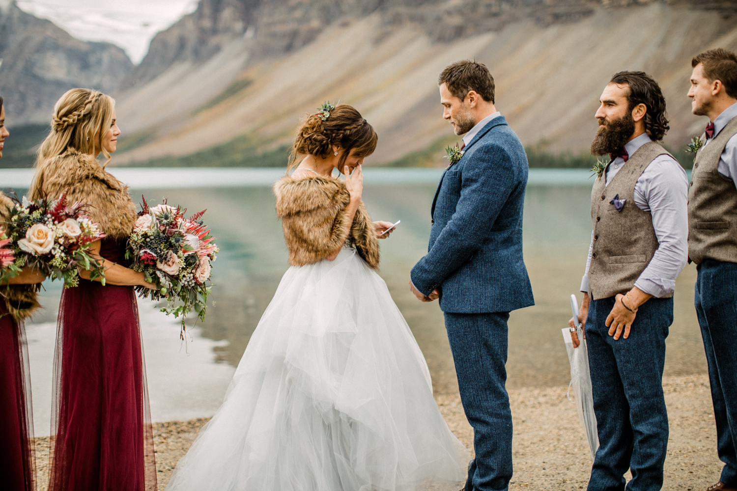 Bow Lake Wedding Elopement