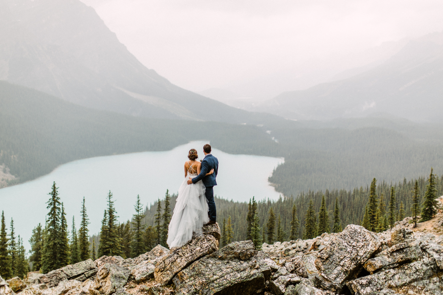 Peyto Lake Elopement Wedding Photographer