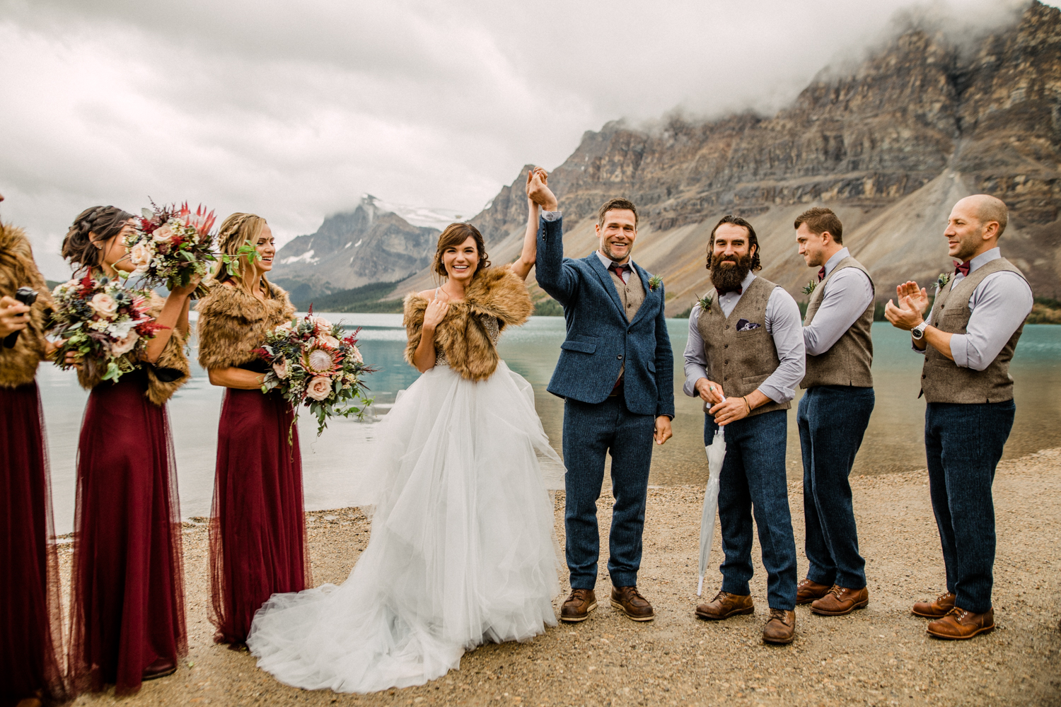 Wedding at Bow Lake in Banff National Park