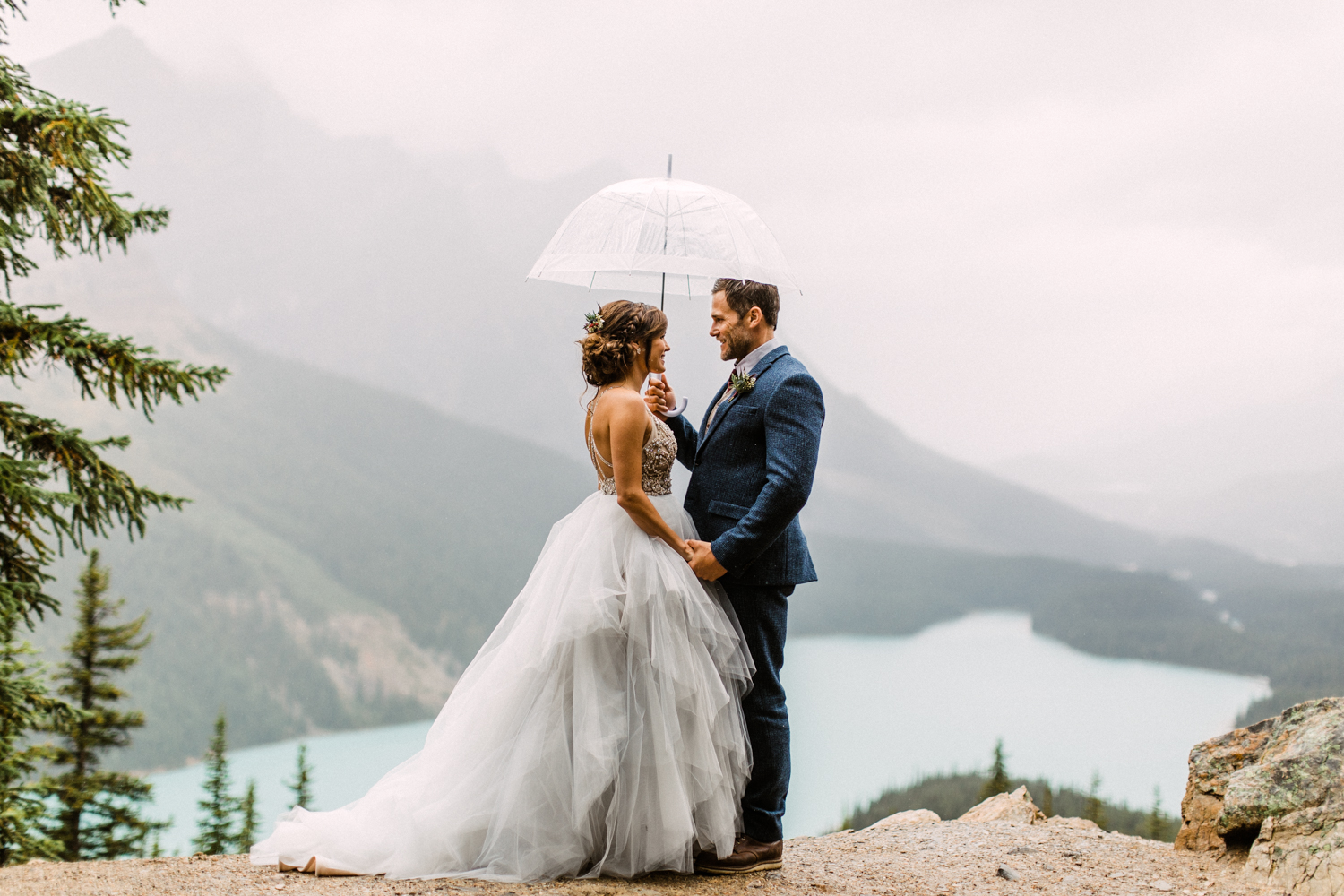 Peyto Lake Elopement Wedding